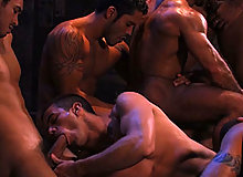 This has been described as one of the great orgy scenes ever filmed... eight Arabian men -- all dark, sweaty, and swarthy -- rummage through the treasure chambe...