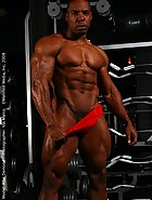 Hot bodybuilder posing