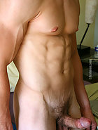 College jock posing naked