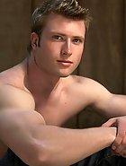 Hot muscular dude posing